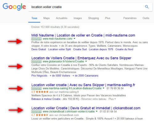 campagne google ads, campagne de publicité Google
